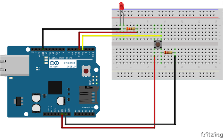 Create your own smart light using arduino ethernet